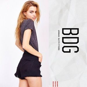 BDG Super High-Rise Dolphin Black Jean Shorts